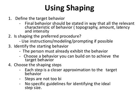 Behaviour Modification Of A Child by Behavior Modification Shaping