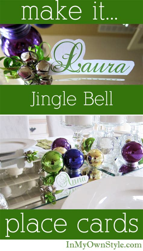 how to make place cards how to make jingle bell place cards in my own style