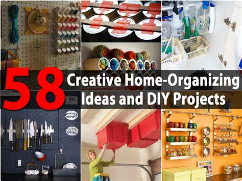 crafts and diy projects top 58 most creative home organizing ideas and diy