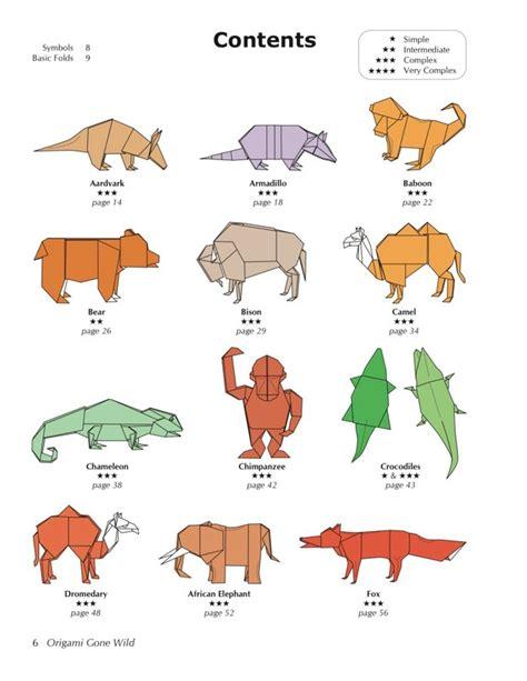 origami safari animals easy origami jungle animals comot