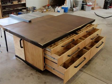 woodworking assembly table out feed assembly table wood shop