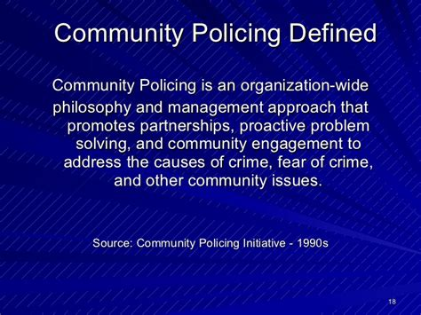 community policing partnerships for problem solving crime prevention history and theory