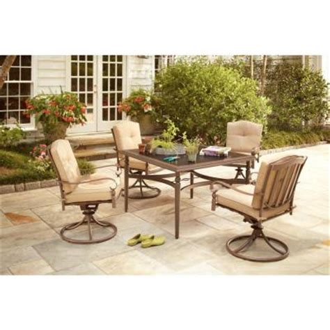 patio dining sets home depot hton bay eastham 5 patio dining set 723 002 004