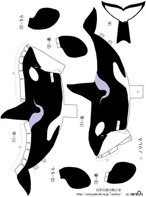 animal paper crafts templates orca killer whale cutouts for seaworld