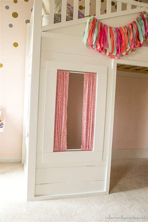 loft bed curtains pottery barn cottage loft bed knock infarrantly creative