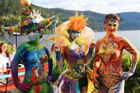 foto festival painting titisee neustadft bodypainting festival ein voller erfolg