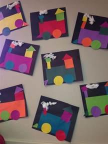 craft work for kindergarten shape craft transportation week shape