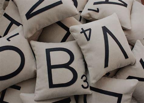 scrabble pillow 1 scrabble letter pillow with insert scrabble by