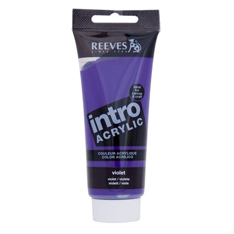 acrylic paint bunnings reeves intro acrylic paint 100ml violet bunnings warehouse