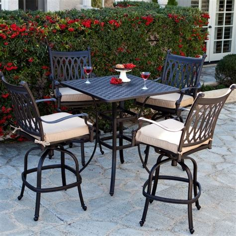 bar height patio dining set patio dining set palazetto milan collection cast aluminum