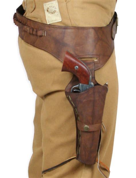 leather gun belt and holster 44 45 cal western gun belt and holster rh draw bourbon leather