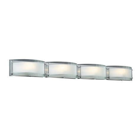 chrome bathroom vanity lights shop plc lighting 4 light millennium polished chrome
