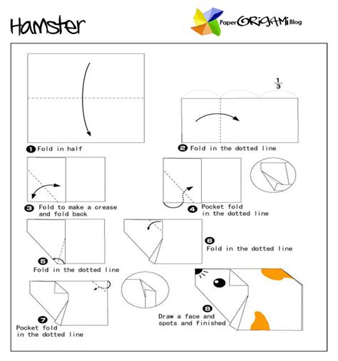 how to make an origami hamster animals origam hamster paper origami guide