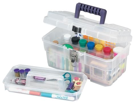 arts and crafts box for akro mils cft 14 inch plastic supply craft storage