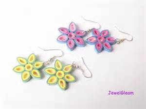 paper craft earrings papercraft diy how to make quilled paper necklace and