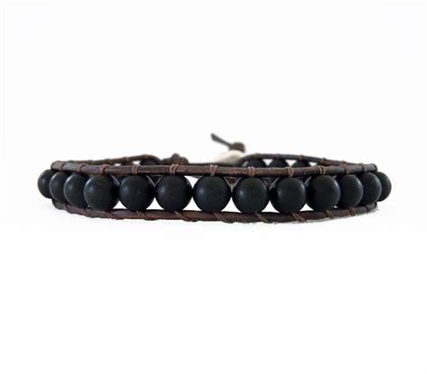 black bracelet s black leather wrap bracelet onsra designer bracelets