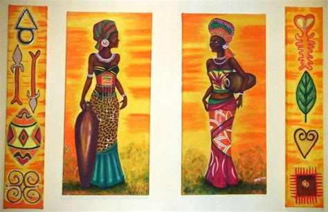 cuadros etnicos mujeres africanas pinturas etnicas africanas imagui