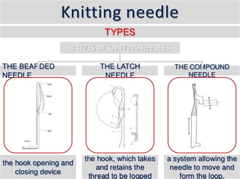 types of knits knitting needles