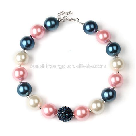 cheap bead necklaces wholesale chunky bubblegum beaded necklace jewellery