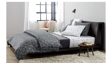 Rugs In Bedrooms alpine gunmetal bed cb2