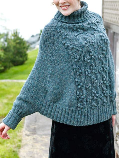 poncho knitting pattern with sleeves sleeved poncho knitting patterns in the loop knitting