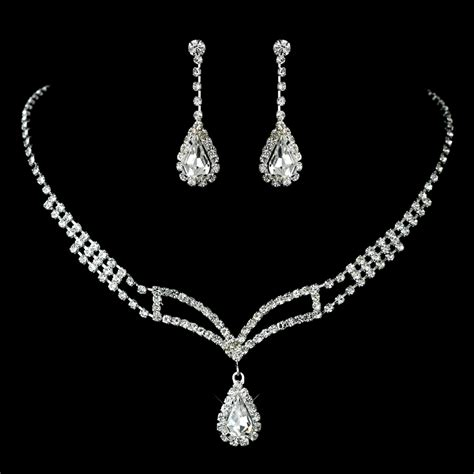 how to make rhinestone jewelry rhinestone covered necklace earring jewelry set for