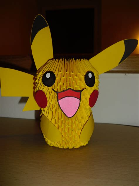 how to make a 3d origami pikachu 3d origami pikachu by justtree on deviantart