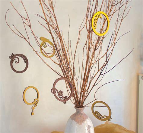 tischdekoration weihnachten braun bilderrahmenbaum
