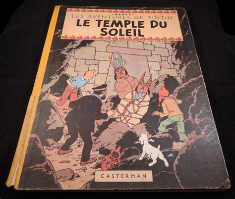 tintin 14 le temple du soleil hc 1e druk 1949 catawiki