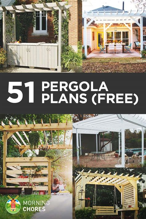 pergola free plans 51 diy pergola plans ideas you can build in your garden