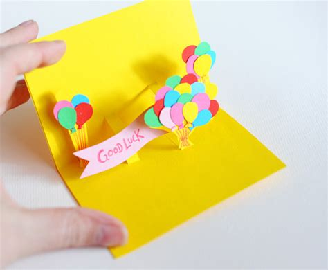 popup card diy pop up cards