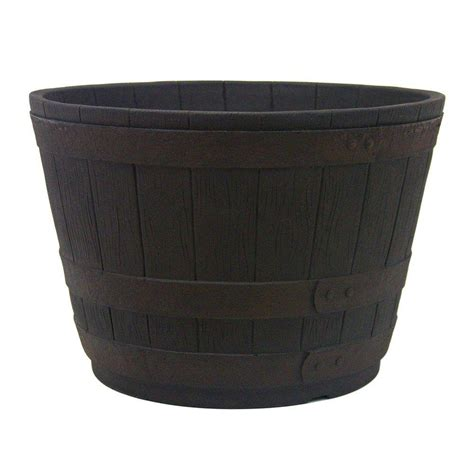 Whiskey Barrel Planter Home Depot by Wood Barrels Pots Amp Planters Garden Center The