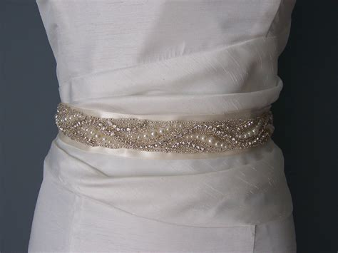 beaded belt for dress bridal sash beaded sash wedding dress sash by