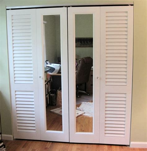 closet doors ideas for bedrooms a combination of plantation louvered doors and mirror