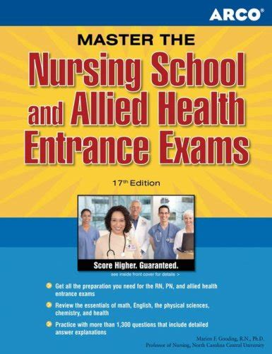 nursing school entrance exams general review for the teas hesi pax rn kaplan and psb rn exams kaplan test prep arco master the nursing school and allied health entrance