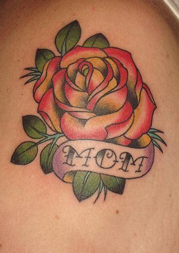 mom memorial rose tattoo