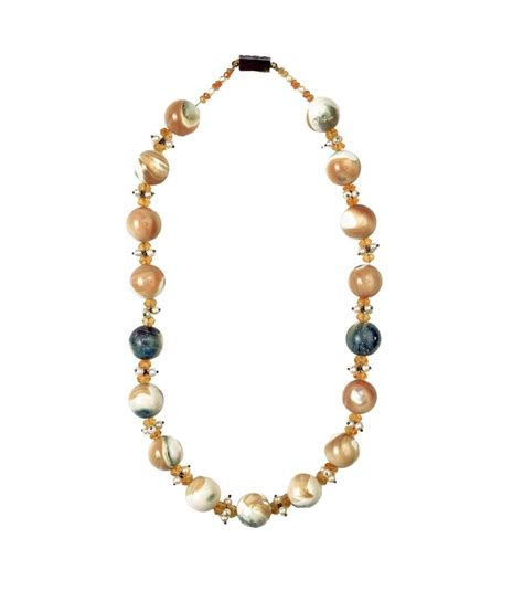 modern beaded necklaces dhoot jewels beige modern necklace set buy dhoot