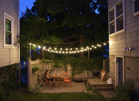 outdoor lights outdoor string lights small backyard ideas 9 ideas to