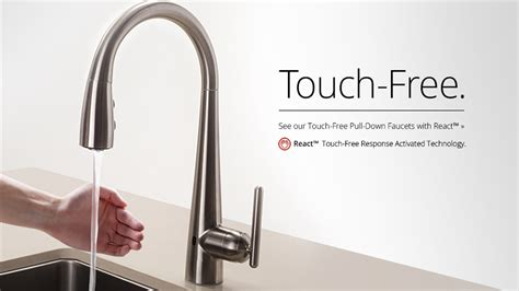 touch faucets for kitchen pfister react touch free faucet pfister faucets kitchen