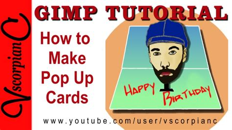 how to make a pop out card gimp tutorial how to make 3d pop out cards by vscorpianc