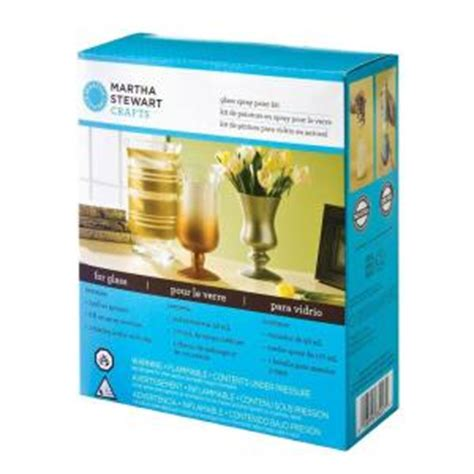 home depot spray paint for glass martha stewart crafts glass spray paint kit 33227 the