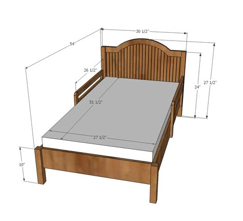 dimension of a bed white traditional wood toddler bed diy projects