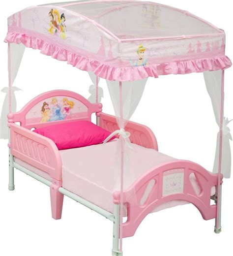 bed princess toddler bunk bed with canopy pink white set bedroom