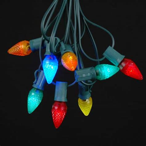 string lights with bulbs multi assorted led c7 outdoor string light set on green