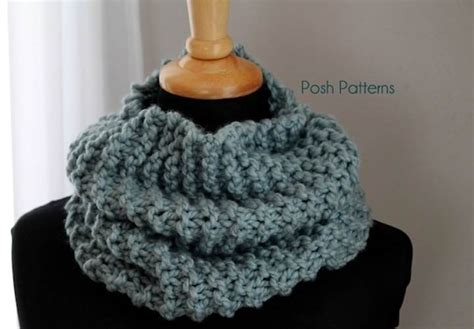 knit cowl pattern easy cowl free knitting pattern posh patterns