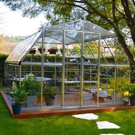 palram hg5212 americana 12 x 12 hybrid greenhouse