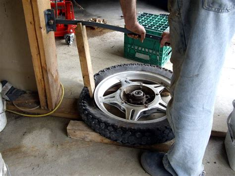 breaking bead on motorcycle tire rear tire mounted backwards by motorcycle shop page 3