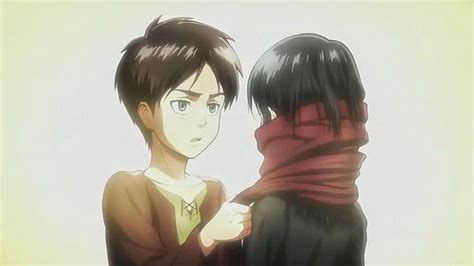 attack on titan eren and mikasa otaku wallflower april 2014