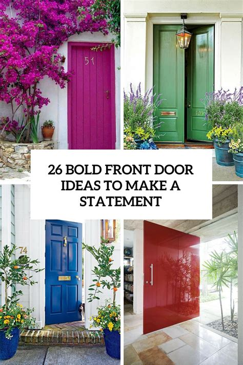 front door ideas 26 bold front door ideas in bright colors shelterness