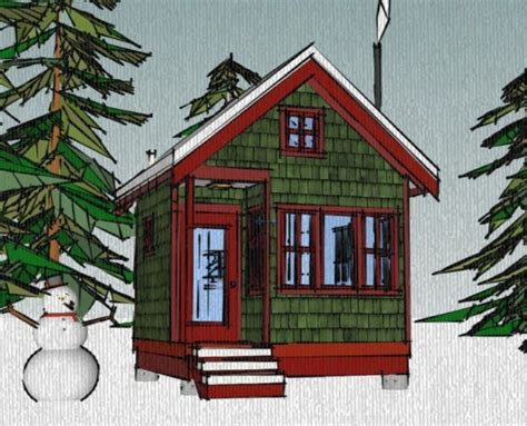 12x12 house plans the borealis writer s cabin 12 x12 tiny house plans